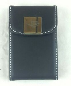 New Black Pocket Leather Business Id Credit Card Holder Case Wallet