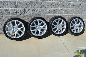 10 12 Mazdaspeed3 Wheel Set Wheels 18x7 Alloy Rims Speed3 Ms3 Oem 2010 2012