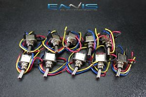 10 Pcs Metal Toggle Switch On Off Red Led 12v 20 Amp 3 Pin Is ec mt1220red