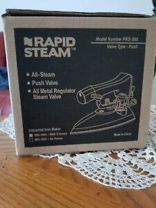 Brand New Rapid Steam Prs 500 Dry Cleaning Iron W 2 Hoses irn 1400