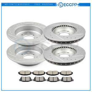 Brake Discs Rotors Pads For 94 95 99 00 Honda Civic Front Rear Drilled Slotted
