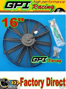 1x 16 Inch Universal Electric Radiator Racing Cooling Fan mounting Kit Gpi