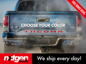 Toyota Tacoma Tailgate Letters Vinyl Inserts Decals Stickers 2016 2018