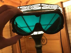 Vintage Goggles hunter Green Steam punk Welding Goggles Used As Is buy It Now