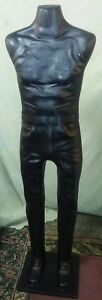 5 Ft Male Charcoal Black Plastic Display Mannequin Figure W base