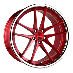 20 Vertini Rf1 5 Forged Red Concave Wheels Rims Fits Jaguar Xkr