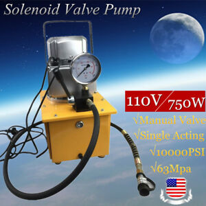 Electric Driven Hydraulic Pump 10000psi Single Acting 110v 60hz High Efficiency