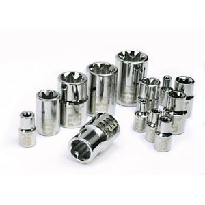Craftsman 13 Piece 1 4 3 8 1 2 Drive External Torx Socket Set