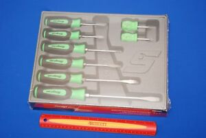 Snap On Tools 8 Piece Instinct Soft Grip Screwdriver Set Sgdx80bg New Ships Free