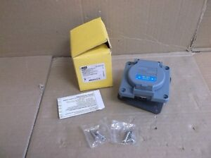 Hbl2620sw Hubbell Wiring Systems New In Box 30a Power Entry Connector Outlet