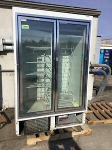 Hussmann 52 Freezer Hgl 2 bs W 2 Swinging Glass Doors Reach in Merchandiser