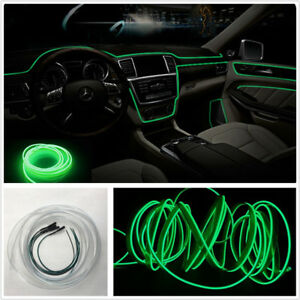 4m Green Universial Led Car Fiber Optic Interior Light Surrounded Ambient Light
