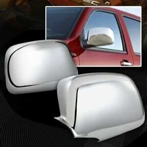 For 2004 2013 Chevy Colorado Chrome Abs Plastic Side Mirror Cover Cap Lh Rh 2pcs