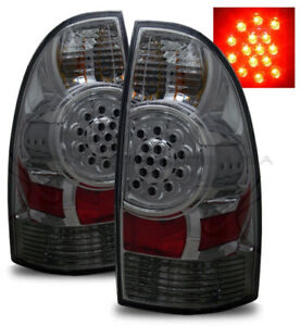 For 05 08 Toyota Tacoma Prerunner x runner Smoked Tinted Led Tail Lights Lamps