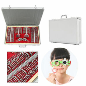 266pc Optical Lens Optometry Rim Case Kit Set W Free Optometry Test Trial Frame