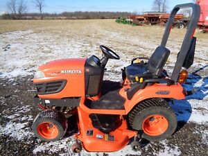 2010 Kubota Bx2360 Tractor 4wd Hydro 60 Belly Mower 23hp 163 Hours