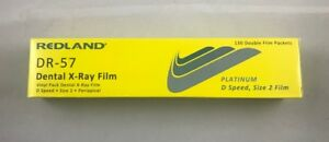 Vinyl Pack Dental X ray Film Platinum D Speed Size 2 130 D film Dr 57 Redland
