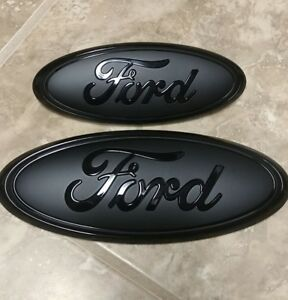 2016 2018 Ford Explorer Grill And Liftgate Gloss matte Pair Emblem 9
