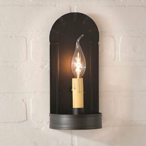 Fireplace Single Arm Wall Sconce In Kettle Black By Irvin S Country Tinware