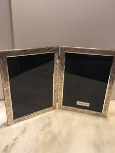 Sterling Silver 925 Double Standing Photo Frame 5 X 7