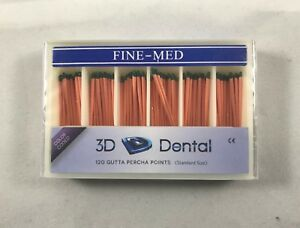 Gutta Percha Points Vial Pack 120 Per Pack 3d dental