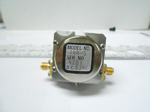 144 5 St Microwave Corp Tunable Band Filter Freq 7 3 Ghz 10 75 Ghz Nos