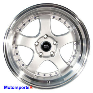 Mst Wheels Mt07 17 X9 20 Silver Deep Lip Rims 5x114 3 Stance Fit Nissan Altima
