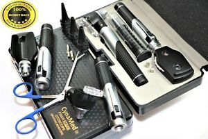 Incredible Premium Led Diagnostic Set Otoscope Ophthalmoscope Fiber Optic forcep