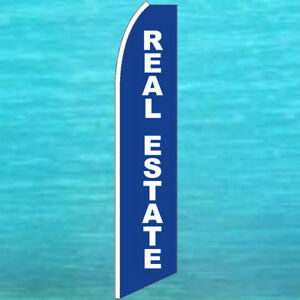 Real Estate Flutter Flag Tall Curved Top Advertising Sign Feather Swooper Banner