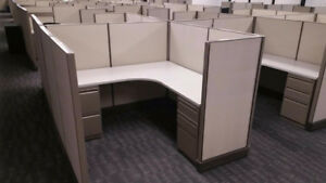 Lot Of 48 Used Herman Miller Cubicles 5 1 2 X 5 1 2 53 Inch Tall Beige