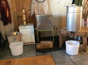 Beekeeping Equipment Bee Hive Setup Extractor Heated Uncapping Tank Veil Suit