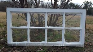 Architectural Salvage 8 Pane Long Slim Antique Window Sash Frame 40x19