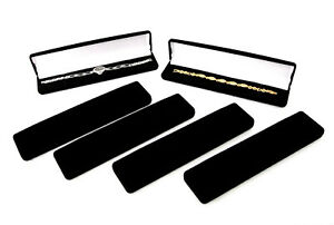 Black Flocked Watch bracelet pen Gift Boxes Package Of 6