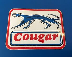 Mercury Cougar Ford Vintage Glossy Racing Decal Sticker Nhra