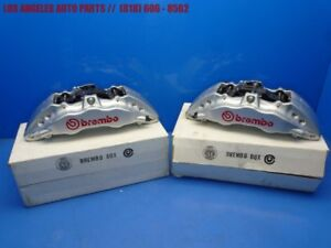 New Front 6 Piston Brembo Gt6 Bbk Disc Brake Calipers Pair 15 380x34mm Silver