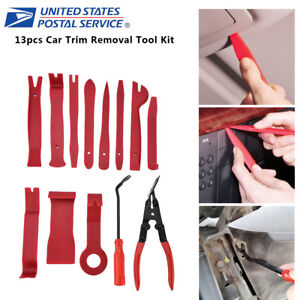 13pc Plastic Car Auto Door Kits Upholstery Trim Clip Removal Pliers Useful Tools