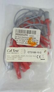 Cal Test Electronics Ct3188 Minipro Clip Sheath Plug Test Lead Red pack Of 10