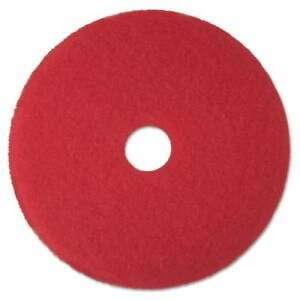 3m Mmm08392 Red Buffer Floor Pad 5100 17 Red 5 Count