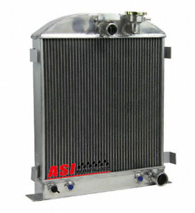 Asi 3 Row Radiator For 1939 1940 Chevy Engine Ford Grill Shells 3 Chopped