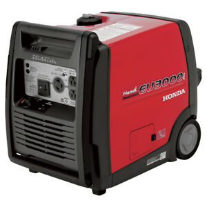 Honda Eu3000i Portable Inverter Generator 3000 Surge Watts 2600 Rated Watts