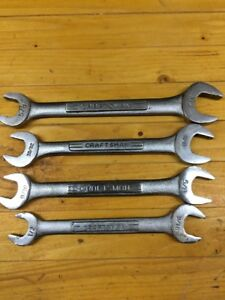 Vintage Craftsman Open End Sae Wrench Set Of 4 Usa Free Shipping