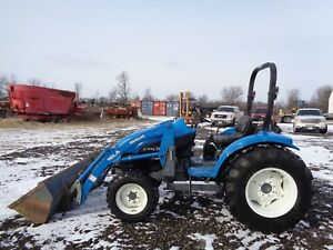2000 New Holland Tc40 Tractor W Nh 16la Front Loader 4wd R4 Shuttle Shift