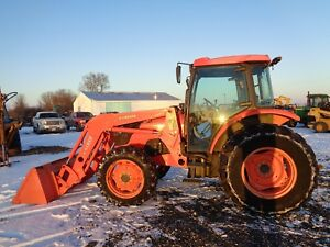 Kubota M8540 Tractor Cab heat air 4wd Loader Shuttle Shift 85hp 1 669hrs