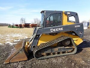 2014 John Deere 329e Skid Steer Cab heat air 2 Speed Hyd Qc 2 766 Hours