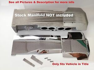 Fits Camaro Firebird 1985 1992 L98 305 Tpi 7pc Stainless Intake Manifold Cover