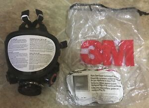 New Unused 3m 7884 Full Face Respirator With Unopened Unused Filters Size Small