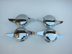 Lowrider Hydraulics Knock Offs 2 Curved Bars Dome Shape Chrome For Wire Wheel