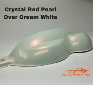Tri Coat Red Pearl Over Cream White Basecoat Gallon Car Auto Paint Kit