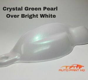 Tri coat Green Pearl Over Bright White Basecoat Quart Car Motorcycle Paint Kit