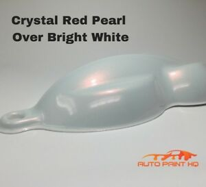 Tri coat Red Pearl Over Bright White Basecoat Quart Car Motorcycle Paint Kit